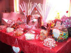 Valentine wedding.....Candy buffet