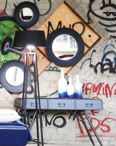 mirrordeco.com — Lola - Round Wall Mirror Large Black Frame Dia: 60cm