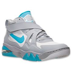 Men's Nike Air Force Max CB 2 Hyperfuse Basketball Shoes  Finish Line   Wolf Grey/White/Gamma Blue