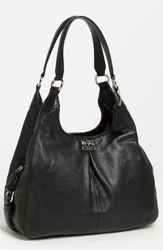 COACH 'Madison - Maggie' Leather Hobo available at #Nordstrom