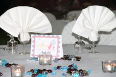 Wedding Table - Centerpiece  Travel Theme, with illustrated cities  DETAILS  www.laughlau.com