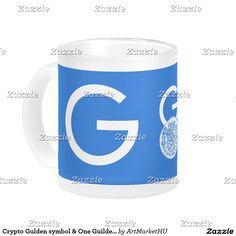 Crypto Gulden symbol & One Guilder frost glass mug