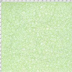 Tecido Estampado para Patchwork - Raminhos Verde Maçã Gold  100% Algodão - 50cm de comprimento - 1,40m de largura   Cada unidade refere-se a um pedaço de 50cm de comprimento por 1,40m de largura. Para adquirir 1 metro, selecione 2 unidades.  Fabricante: Fabricart