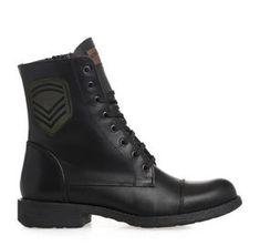 ΓΥΝΑΙΚΕΙΑ ΜΠΟΤΑΚΙΑ FRATELLI ROBINSON (BLACK) Combat Boots, Shoes, Black, Women, Fashion, Moda, Combat Boot, Zapatos, Black People