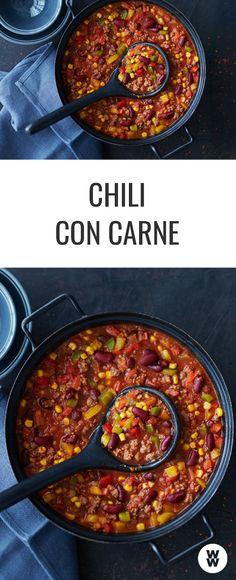 Chili con Carne ist schnell gemacht und immer lecker! WW Your Way I Weight Watchers Deutschland