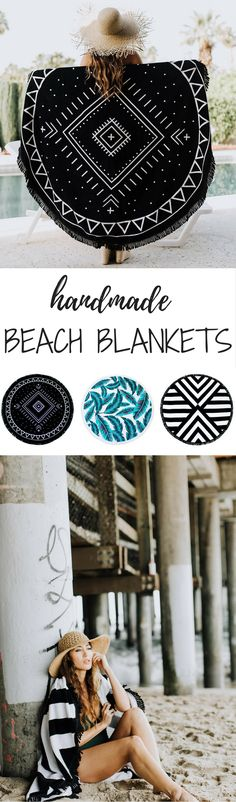 These gorgeous beach blankets can be found on Etsy!!! {MoodLiving} And they are by far my favorite!!! Love the modern designs and super chic colors ... perfect for that sunny vacation I need!   beach blanket, beach blanket diy, beach blanket ideas, round beach towels, roundies, round towels, beach fashion, summer fashion, summer outfit, beach outfit, summer trends.