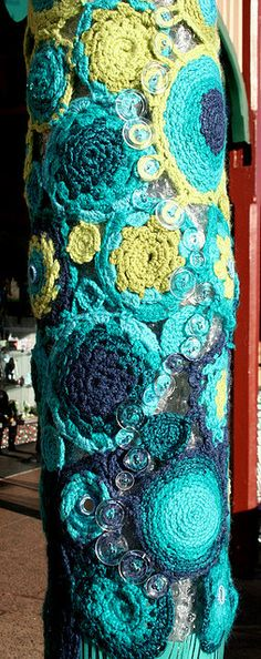 """Tree Hugger 8"" by rettgrayson, via Flickr...perhaps the most beautiful Yarn Bomb I've ever seen!"