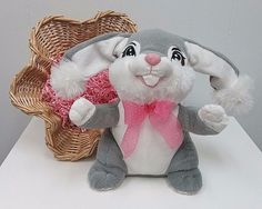 """DANDEE 11"""" MUSICAL BUNNY RABBIT PLUSH TOY BATTERY OPERATED SINGS DANCES EASTER  #DanDee"""