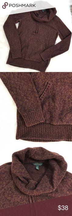 Lauren Ralph Lauren • Hooded Sweatshirt Excellent condition, brown (slight marble effect) hooded sweatshirt. Perfect for fall,size XS. No trades. Lauren Ralph Lauren Sweaters