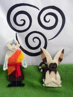Avatar: el último maestro aire Aang y títeres de dedo por ShepArt