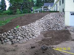 Elegant Basement Retaining Wall