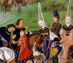 Charles VII (1403 - 1461). Son of Charles VI and Isabeau of Bavaria. He married Marie of Anjou and had children.