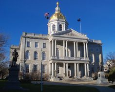 New Hampshire State Capitol (State House): Concord. Built: 1815-1818. Architectural Style: Greek Revival.