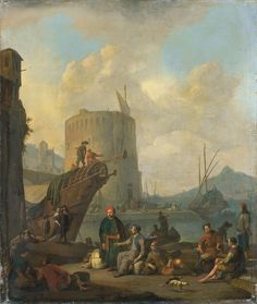 Italian harbour with a fortified tower. 1664. Oil on canvas. 78 × 66 cm. Amsterdam, Rijksmuseum Amsterdam.