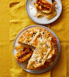 Thomasina Miers' Easter recipe for spiced lamb and saffron rice pastilla pie | Food | The Guardian Filo Pastry Sheets, Moroccan Dishes, Spiced Rice, Saffron Rice, Easy Restaurant, Sunday Roast, Cook At Home, Easter Recipes, Pizza