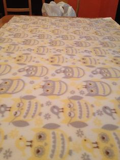 Owl tie blanket for neutral baby or just anyone who loves owls