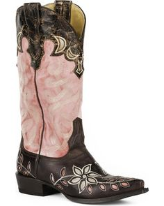 7c86016ced0 Stetson Women s April Pink Floral Embroidered Western Boots - Snip Toe