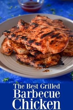 The Best Grilled Barbecue Chicken - How To Grill Chicken Breasts with Barbecue S. The Best G Best Bbq Chicken, Grilled Chicken Recipes, Bbq Chicken On Grill, Chicken Breast On Grill, Barbecue Chicken Grilled, Barbecued Chicken, Chicken Pizza, Chicken Meals, Chicken Salad