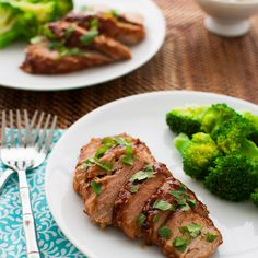 Pork Tenderloin with Hoisin Sauce Glaze Recipe Main Dishes with hoisin sauce, ketchup, soy sauce, minced garlic, sugar, pork tenderloin, cilantro leaves