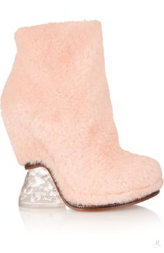 FENDI Shearling ankle boots