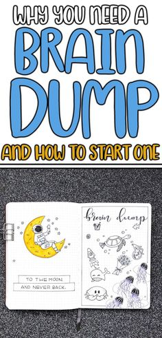 Want to start a brain dump but don't know how? Learn how this helpful bullet journal layout or personal development tool can improve your mental health, time management, and memory. Get better organization with this very simple notebook idea. Bullet Journal Layout Templates, Bullet Journal Ideas Pages, Bullet Journal Inspiration, Journal Pages, Bullet Journal Hacks, Brain Dump Bullet Journal, Bullet Journal Mental Health, Bullet Journal Notebook, Bullet Journals