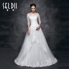 2014 new fashion winter wedding Korean word shoulder bride wedding small tail was thin long-sleeved dress big yards