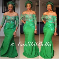 Nigerian Wedding Presents 'Rise Of The Monotone Aso-ebi'- Check Out Latest Monotone Aso-ebi Styles & Classy Fabrics To Inspire You This 2015 African Lace Styles, African Dresses For Women, African Attire, African Wear, African Women, African Style, African Dance, Robes Glamour, Style Africain