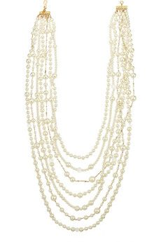 Kenneth Jay Lane Gold-plated, crystal and faux pearl necklace | NET-A-PORTER