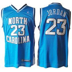 2990a0914b93 North Carolina  23 Michael Jordan White Embroidered NCAA Jersey Blue