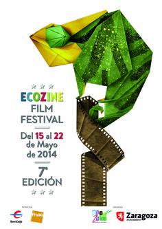 Cartel Festival Ecozine año 2014 7ª edicion. Festival Internacional de Cine y Medio Ambiente Ciudad de Zaragoza