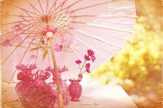 Pretty pink Japanese umbrella.