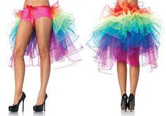 Sexy Women's Multi Color Rainbow Layered Tutu Party Dance Petticoat Corset Skirt #Unbranded #Tutuskirt