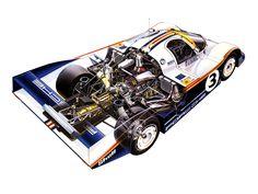 1983 Porsche 956 C Coupe - Illustration uncredited