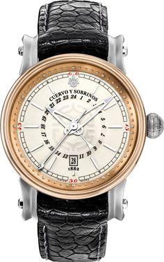 Cuervo y Sobrinos Watch Torpedo Pirata GMT Bronze