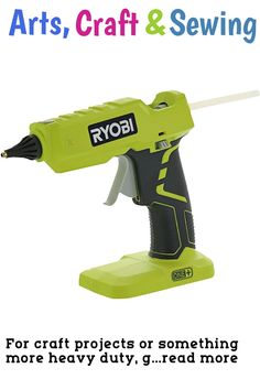 (This is an affiliate pin) For craft projects or something more heavy duty, go with Ryobi for your gluing needs. Their P305 is a durable and powerful twist on the traditional hot glue gun. Not only is this a cordless power tool, but it has the other ergonomic features you would expect from Ryobis high quality drill drivers, reciprocating saws, and more. It has the rubber hex texture youd expect from Ryobis grips, so you can keep a firm grip even in slippery conditions. Additionally, this…