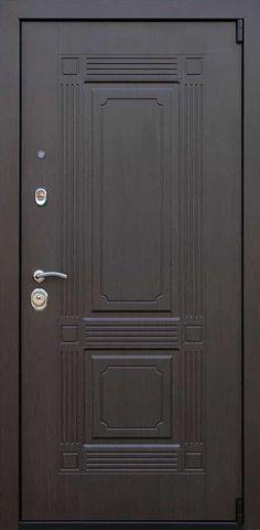 Дверь входная с зеркалом Викинг Венге