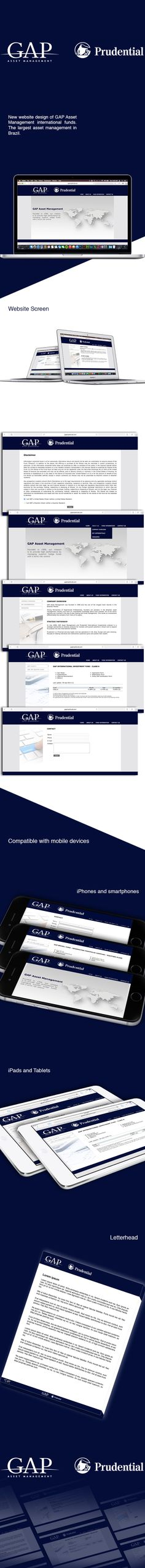 This website was developed and designed for the GAP Asset Management and Prudential.
