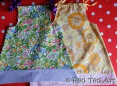 First Sewing Project for older Kids: *Pillow Case Dress - Great Beginners Project*  These are so sweet and easy to make!