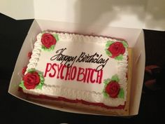 Somebody has 42 candles on their cake this year, coming up this week. I found the perfect cake. Funny Birthday Cakes, Funny Cake, My Birthday Cake, Happy Birthday, 20th Birthday, Crazy Ex Girlfriends, Carnivore, Cupcakes, Give It To Me