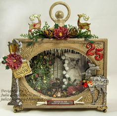 Christmas Shadowbox: http://julizdesignpost.blogspot.com/2014/12/21-lets-celebrate.html