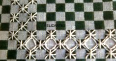 FELIZARTES: Bordado em pano xadrez Cross Stitching, Cross Stitch Embroidery, Embroidery Patterns, Hand Embroidery, Chicken Scratch Patterns, Chicken Scratch Embroidery, Creeper Minecraft, Bordado Tipo Chicken Scratch, Swedish Weaving