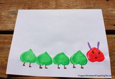 Marshmallow Print Caterpillar in honor of The Very Hungry Caterpillar by FSPDT