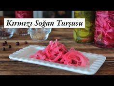 Kırmızı Soğan Turşusu Tarifi/ Nefis rengiyle soğan turşusu nasıl yapılır - YouTube Cake Recipes, Grains, Rice, Food, Youtube, Easy Cake Recipes, Essen, Meals, Seeds