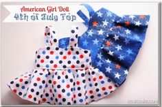 Free AG doll top pattern and instructions
