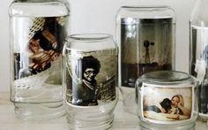 Reuse potes de vidros ...