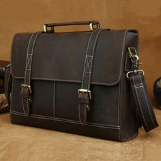 Handmade leather messenger bag, leather laptop bag, leather crossbody bag, mens leather messenger bag(c121)