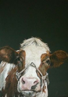 Cow Painting by Annabelle Lanfermeijer - Art Cow Pictures, Cow Painting, Farm Art, Cow Art, Large Animals, Whimsical Art, Animal Paintings, Art And Architecture, Pet Portraits