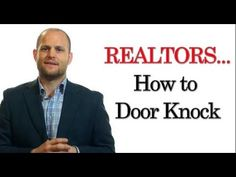 The door knocking script that got me hundreds of listings in real estate sales - YouTube