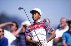 Remembering Tiger Woods' 1992 PGA Tour debut at the Los Angeles Open at Riviera Baseball Scores, Pro Baseball, Baseball Equipment, Baseball Caps, Pga Tour Players, Nike Poster, Golf Academy, Golf Magazine, Mr Men