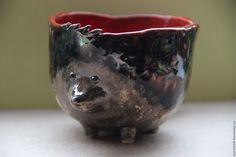 Чашка Ежик - керамика ручной работы
